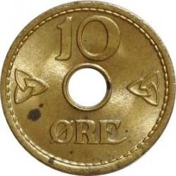 Moneda > 10öre, 1942 - Noruega  (Forat en el centre) - reverse