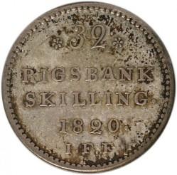 Moneta > 32rigsbankskilingai, 1820 - Danija  - reverse