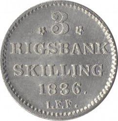 Moneta > 3rigsbankskilingai, 1836 - Danija  - reverse