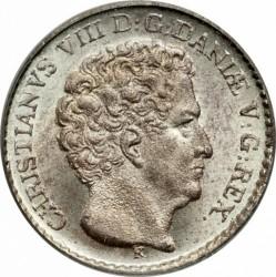 "Moneta > 3rigsbankskilling, 1842 - Dania  (Napis na rewersie ""R.B.S."") - obverse"