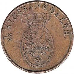Кованица > 2ригсбанкскилинга, 1818 - Данска  - obverse