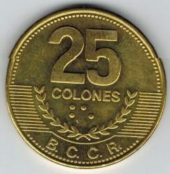Монета > 25колонів, 2007-2014 - Коста-Ріка  - reverse
