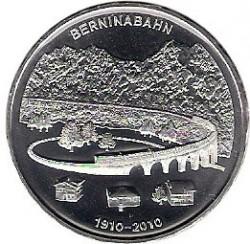 Moneta > 20franków, 2010 - Szwajcaria  (100 rocznica - Berneńska linia kolejowa) - reverse