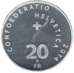 Moneta > 20franków, 2014 - Szwajcaria  (Gra karciana Jass) - obverse