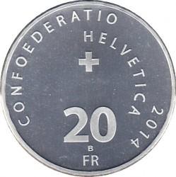 Moneta > 20franków, 2014 - Szwajcaria  (50 rocznica - Zespół akrobacyjny Patrouille Suisse) - obverse