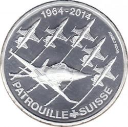Moneta > 20franków, 2014 - Szwajcaria  (50 rocznica - Zespół akrobacyjny Patrouille Suisse) - reverse
