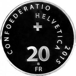 Moneta > 20franków, 2015 - Szwajcaria  (1500 rocznica - Opactwo terytorialne Saint-Maurice d'Agaune) - obverse
