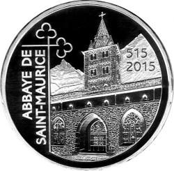 Moneta > 20franków, 2015 - Szwajcaria  (1500 rocznica - Opactwo terytorialne Saint-Maurice d'Agaune) - reverse