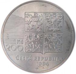 Moneta > 200corone, 1994 - Repubblica Ceca  (50° anniversario - Sbarco in Normandia) - obverse