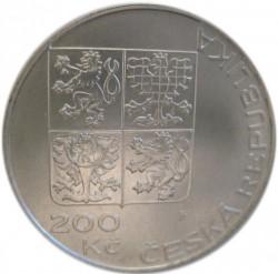 Moneta > 200corone, 1995 - Repubblica Ceca  (50° anniversario - Nazioni Unite) - obverse