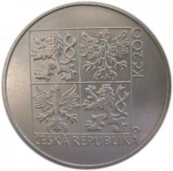 Монета > 200крон, 1997 - Чехия  (100 лет первому автомобилю в Богемии) - obverse