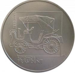 Монета > 200крон, 1997 - Чехия  (100 лет первому автомобилю в Богемии) - reverse