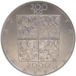 Moneda > 200coronas, 2000 - República Checa  (150th Anniversary - Birth of Zdeněk Fibich) - obverse