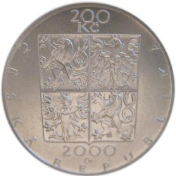 Moneda > 200coronas, 2000 - República Checa  (150th Anniversary - Birth of Zdeněk Fibich) - reverse