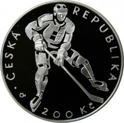 Moneta > 200corone, 2008 - Repubblica Ceca  (100th Anniversary - Czech Hockey Association) - reverse