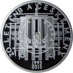 Moneta > 200corone, 2013 - Repubblica Ceca  (20th Anniversary - Czech Currency) - reverse