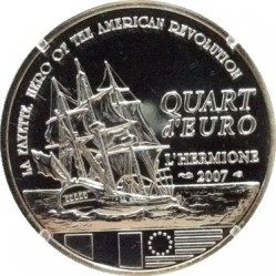 Moneda > ¼euro, 2007 - Francia  (250 aniversario - Nacimiento de Gilbert du Motier de La Fayette) - reverse
