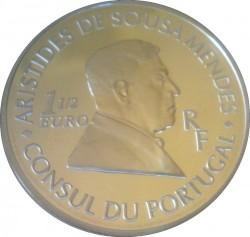Moneda > 1½euros, 2007 - Francia  (Aristides de Sousa Mendes) - reverse
