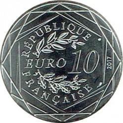 Монета > 10євро, 2017 - Франція  (Бретань /риболовецька сітка/) - obverse