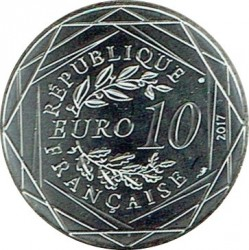 Монета > 10евро, 2017 - Франция  (Бретань /рыболовная сеть/) - reverse