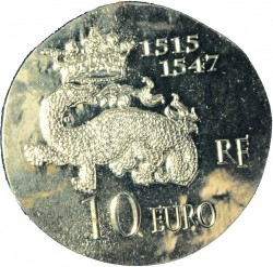 Монета > 10євро, 2013 - Франція  (Королі і президенти - Франциск I) - reverse