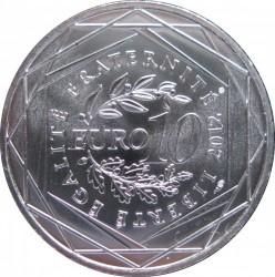Moneda > 10euros, 2012 - Francia  (Regiones franceses - Guadalupe) - reverse