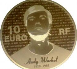 Moneda > 10euros, 2011 - Francia  (25 aniversario - Muerte de Andy Warhol) - obverse