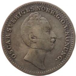 Mynt > 1/16riksdalerspecie, 1845-1855 - Sverige  - obverse