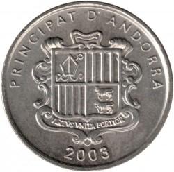 Moneda > 10céntimos, 2003 - Andorra  (Nuestra Señora de Meritxell) - obverse
