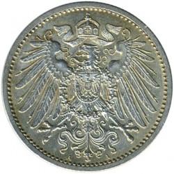 מטבע > 1מארק, 1891-1916 - גרמניה  - obverse