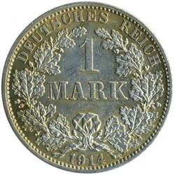 מטבע > 1מארק, 1891-1916 - גרמניה  - reverse