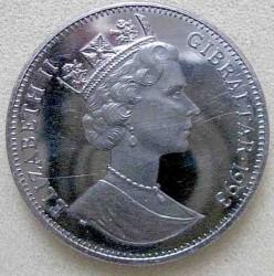 Mynt > 2,8ECU, 1993 - Gibraltar  (Euro Tunnel) - obverse
