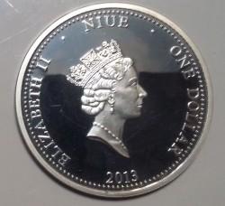Moneta > 1dollaro, 2013 - Niue  (Fiori profumati - Rosa) - obverse
