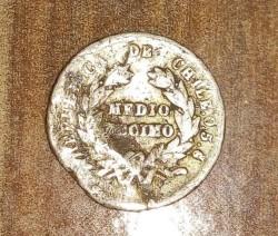 Moneta > ½decimo, 1867-1881 - Cile  - reverse