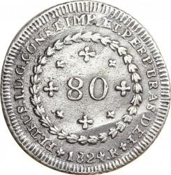 Монета > 80рейсов, 1824-1826 - Бразилия  - obverse