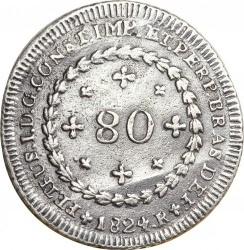 Монета > 80рейсов, 1824-1826 - Бразилия  - reverse