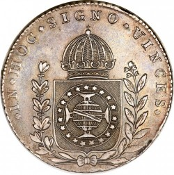 Coin > 640reis, 1824-1827 - Brazil  - obverse
