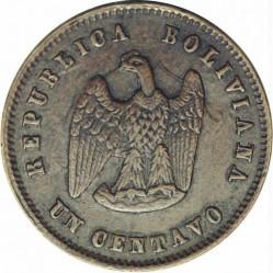 "Münze > 1Centavo, 1878 - Bolivien  (Lettering ""LA UNION ES LA FUERZA"") - obverse"