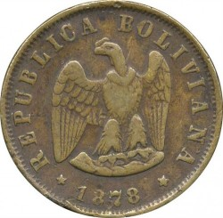 Moneta > 2sentavai, 1878 - Bolivija  - obverse