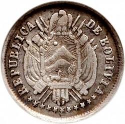 Münze > 5Centavos, 1871 - Bolivien  (CINCO CS/1G. Y 5CS/9 DS FINO) - obverse