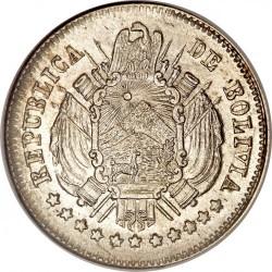 Münze > 10Centavos, 1870-1871 - Bolivien  - obverse