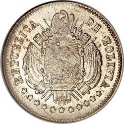 Moneda > 10centavos, 1870-1871 - Bolivia  - obverse