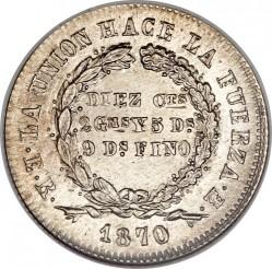 Moneda > 10centavos, 1870-1871 - Bolivia  - reverse