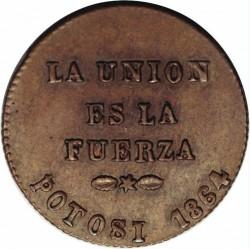Coin > 1centésimo, 1864 - Bolivia  - obverse