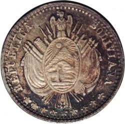 Coin > 1/10boliviano, 1864-1867 - Bolivia  - obverse