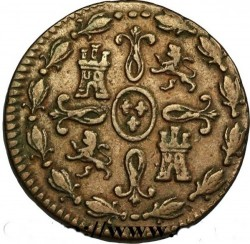 Münze > 2Maravedís, 1824-1827 - Spanien  - reverse