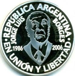 Moneda > 1peso, 2006 - Argentina  (70º Aniversario - Muerte de Jorge Luis Borges) - obverse