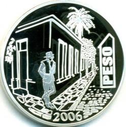 Moneda > 1peso, 2006 - Argentina  (70º Aniversario - Muerte de Jorge Luis Borges) - reverse