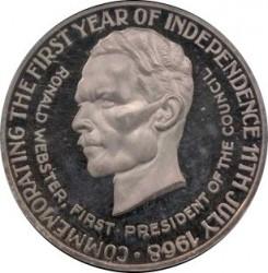 Moneda > 25dollars, 1968 - Anguila  (1er aniversari de l'Independència) - obverse