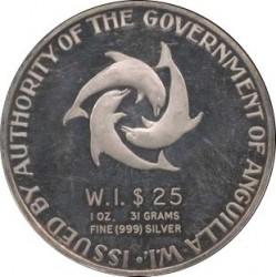 Moneda > 25dollars, 1968 - Anguila  (1er aniversari de l'Independència) - reverse